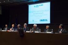 I relatori, da sinistra: Ranghino, Debernardi, Pontrandolfi, Mezzano, Candreva, Cicconi, Cogliati