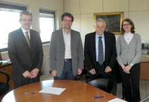 Da sinistra: Carlo Mezzano, Moreno Cogliati, Mario Gabban e Rita Minotti